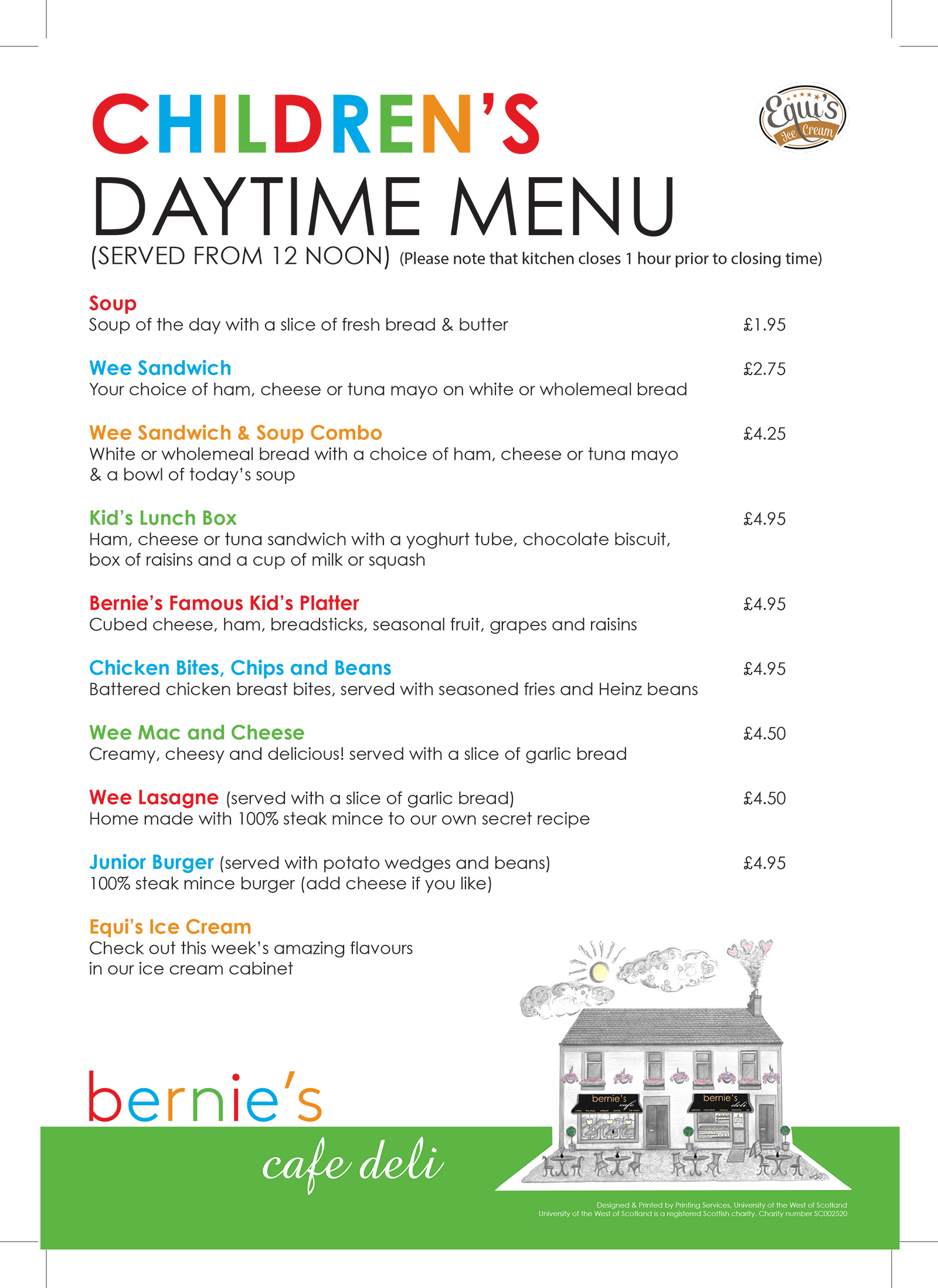 Daytime for Kids @ Bernie's